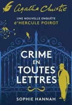 Livres Couvertures de Crime En Toutes Lettres