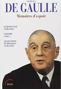 Livres Couvertures de Memoires D'espoir, Tome 2 : L'effort 1962   ...