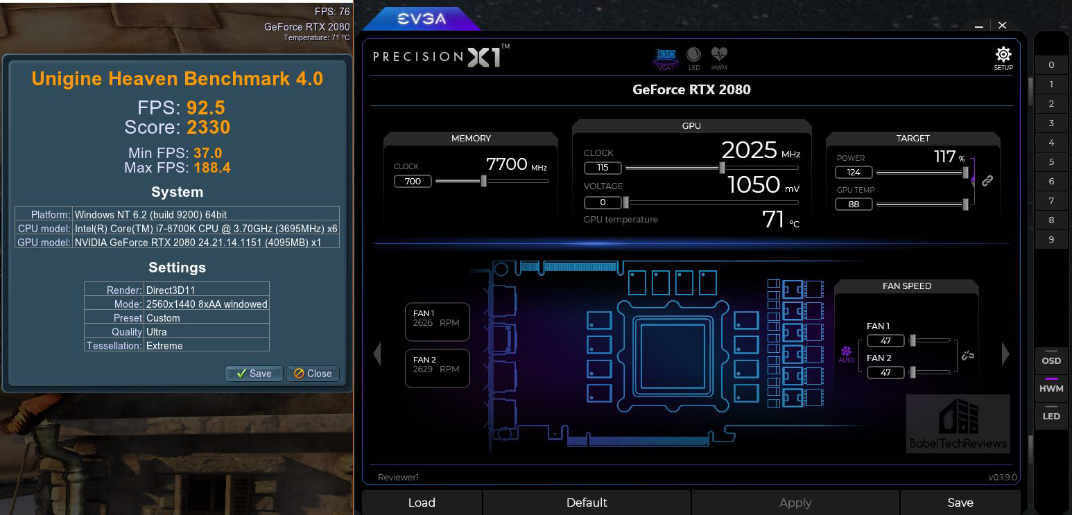 EVGA Precision X1 Released for Turing RTX 2080 series