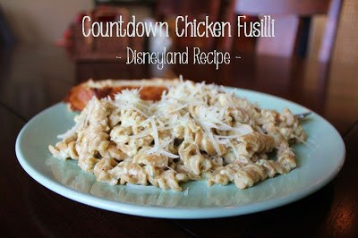 Disneyland Countdown Chicken Fusilli Recipe