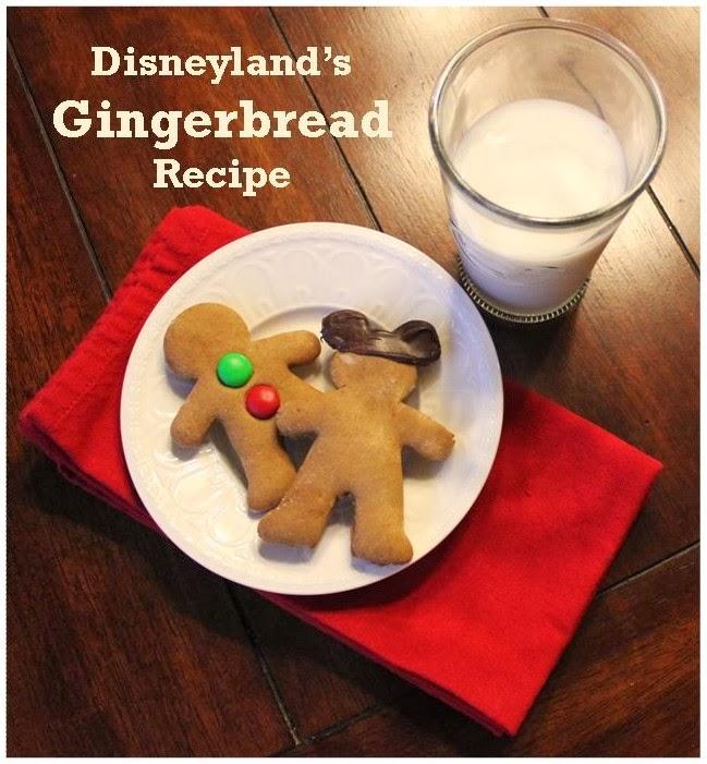 Disneyland Gingerbread Cookie Recipe