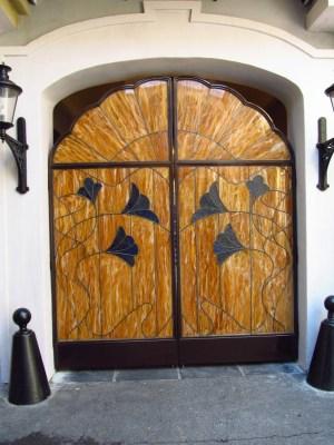 Club 33 Courtyard doors