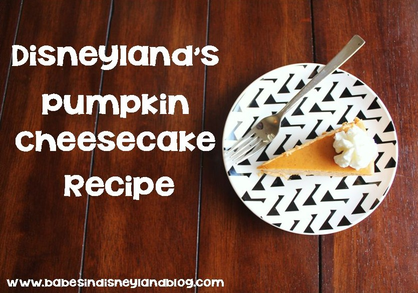 Disneyland Pumpkin Cheesecake Recipe And Video Tutorial Babes In Disneyland