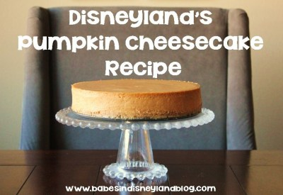 Disneyland pumpkin cheesecake recipe and tutorial