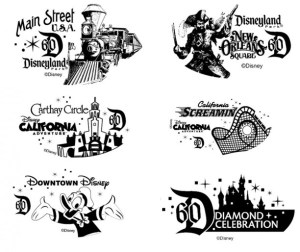 Sample Diamond Celebration Coin Designs (image courtesy of Disney)