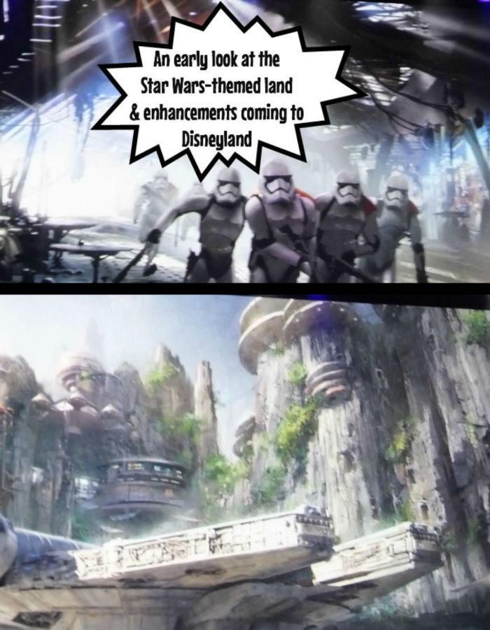 An early look at the  Star Wars-themed land  & enhancements coming to Disneyland in California
