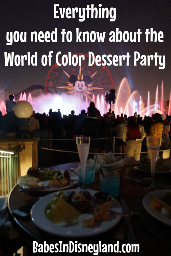 Everything you need to know about the World of Color Dessert Party