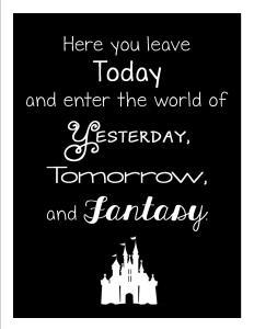 Disneyland Printable