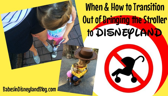When and How to Transition out of Bringing the Stroller to Disneyland