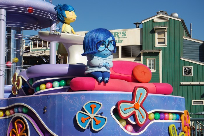 "Pictured above is the ""Inside Out"" pre-parade unit featured when the film originally came out in theaters."