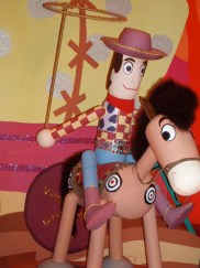 "Pixar characters in ""it's a small world."""