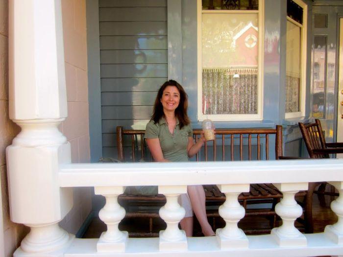 Disneyland Main Street porch