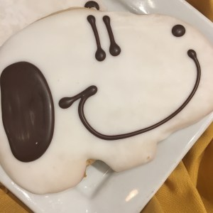 Yum! Snoopy cookie!
