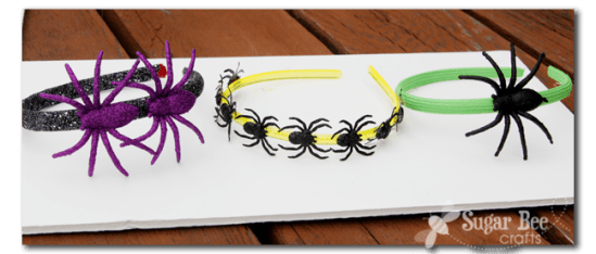 DIY Spider Headbands for Halloween #halloween #spider #accessories #headband
