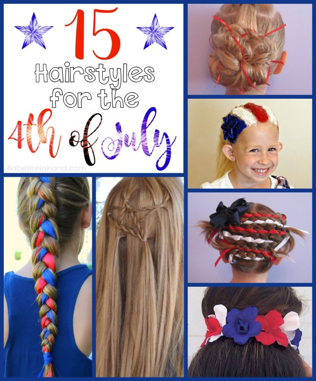 15 hairstyles for the 4th of july | celebrate with patriotic