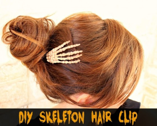 Skeleton Hand Clip for Halloween #halloween #skeleton #hair #accessory