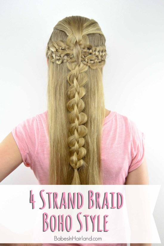 4 Strand Braid Boho Style from BabesInHairland.com #4strandbraid #braids #boho
