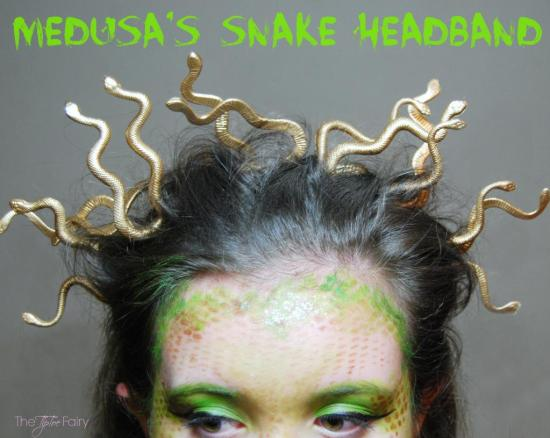 DIY Medusa Snake Headband for Halloween #halloween #medusa #snake #headband