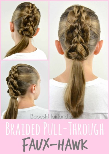 Braided Pull-Through Faux-Hawk #hair #fauxhawk #pullthrough #hairstyle