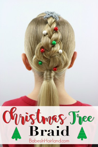 or an easy Christmas hairstyle, try this cute Christmas Tree Braid from BabesInHairland.com | hair | braids | hairstyle | easy hairstyle |