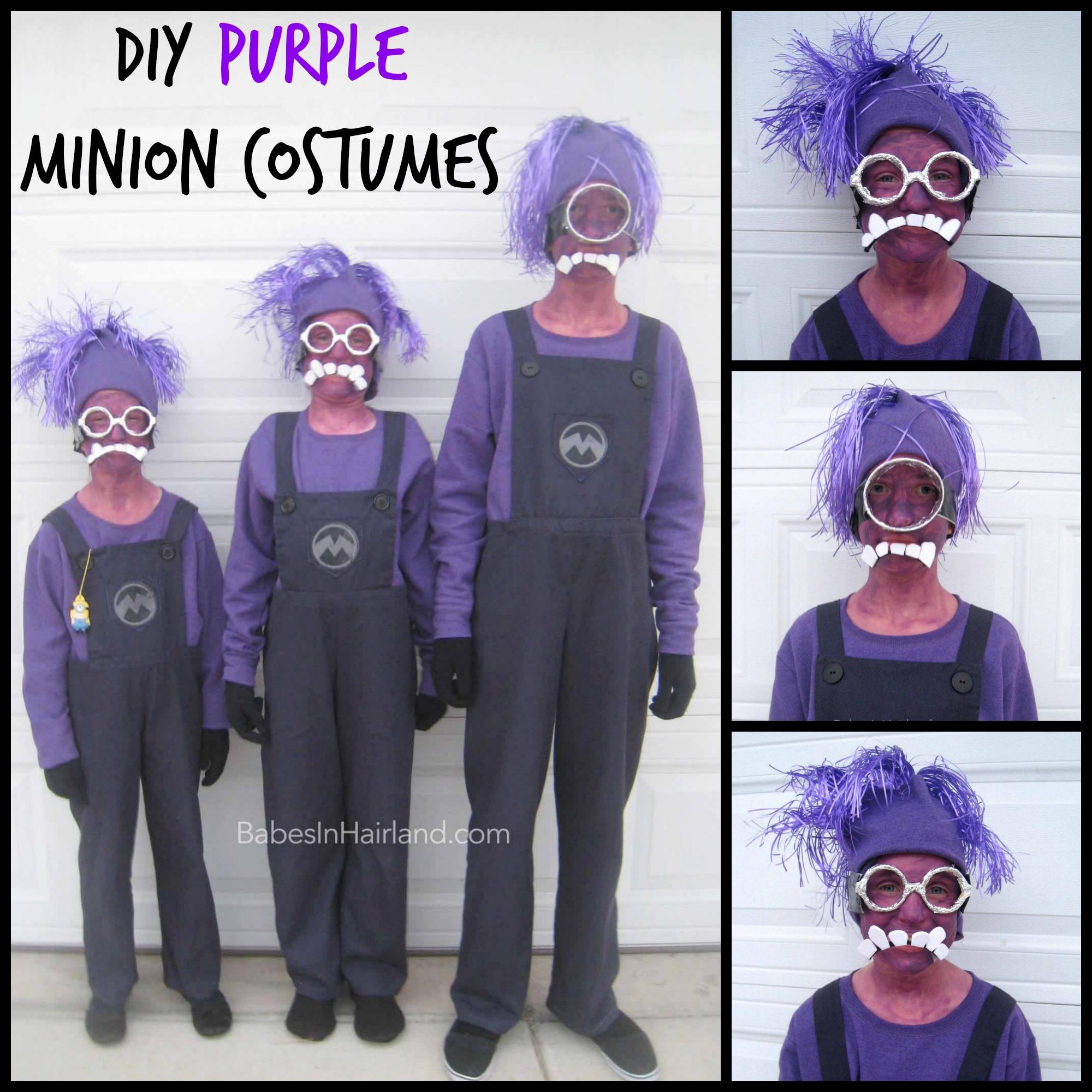 Purple Minion Halloween Costumes & Minion Halloween Costumes - Babes In Hairland