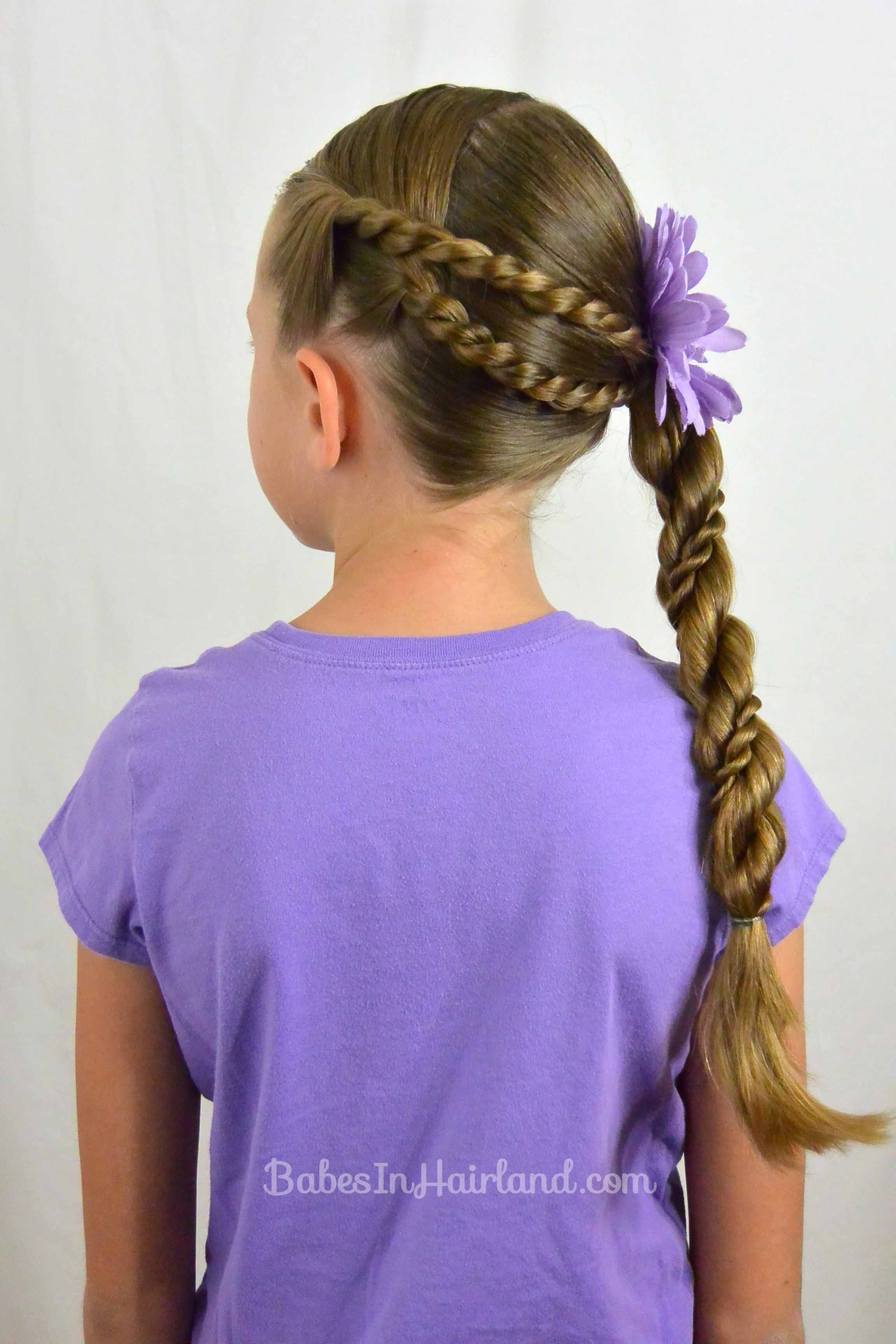 rope braids and twisted ponytail