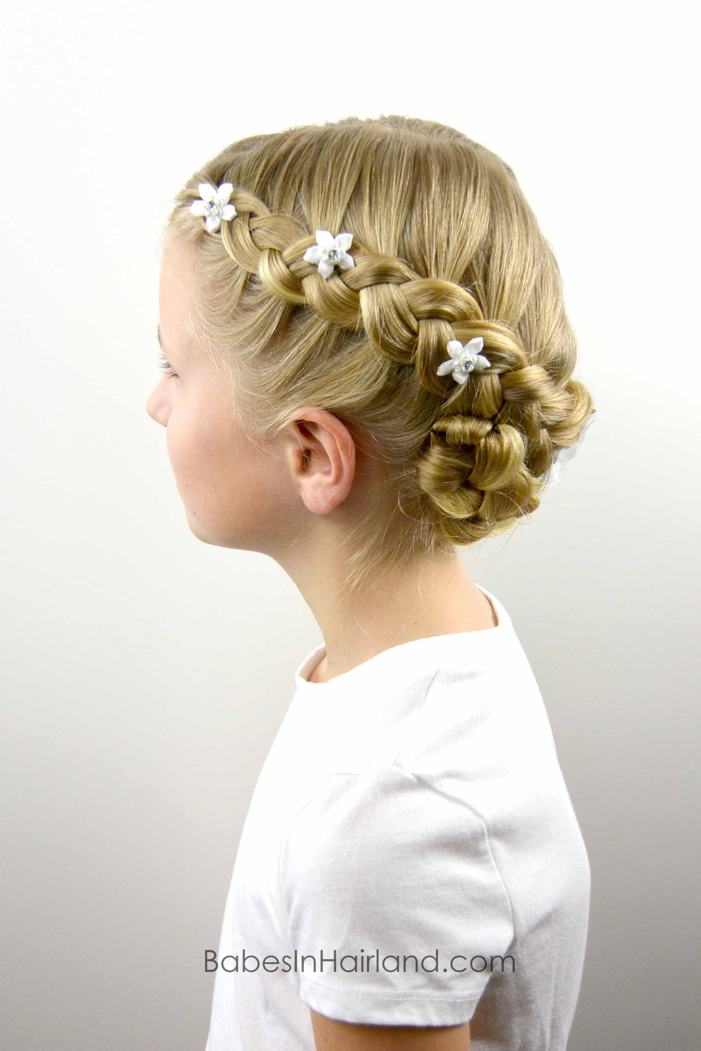 Dutch Braided Baptism Hairstyle - Babes In Hairland