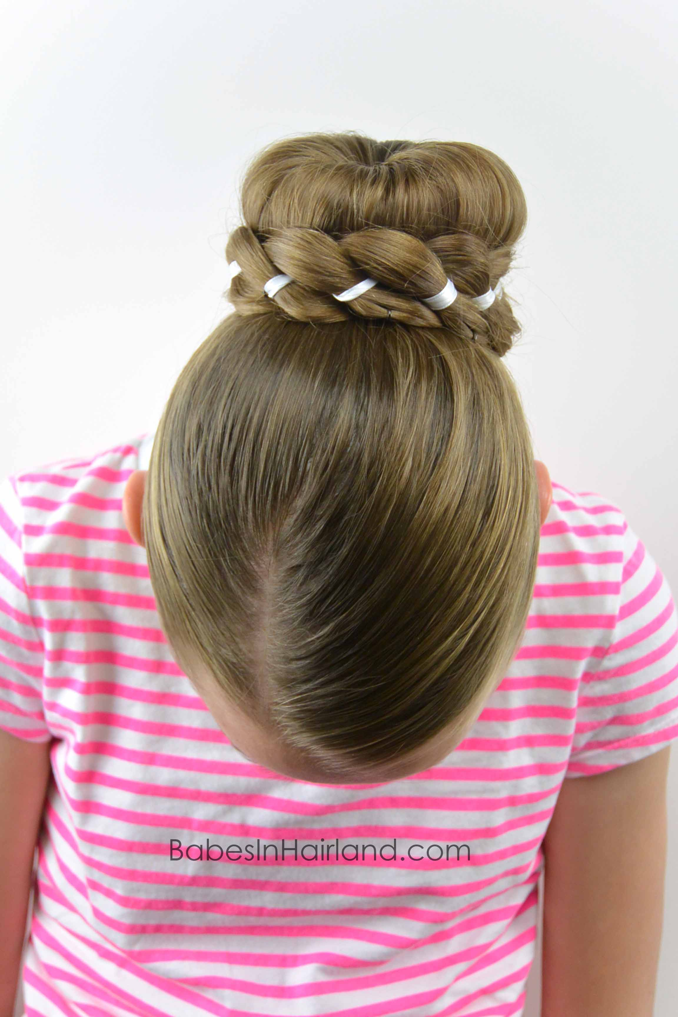 Ribbon Braid Wrapped Sock Bun Babes In Hairland