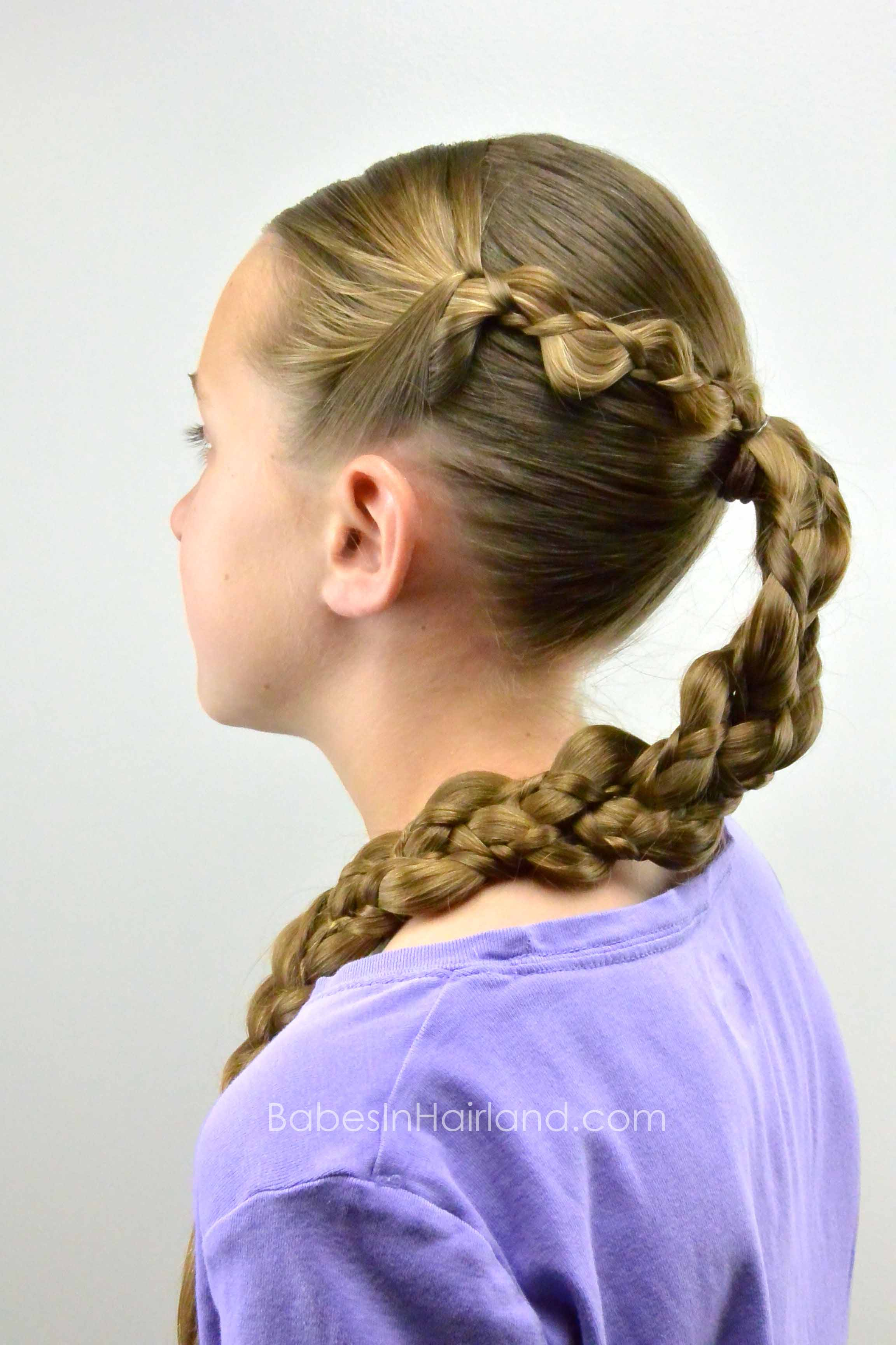 easy braided hairstyle summer