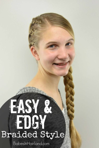 Easy & Edgy Braided Style for Teens from BabesInHairland.com #braids #dutchbraid #hairstyle #hair #teen