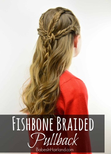 Fishbone Braided Pullback from BabesInHairland.com #fishbonebraid #fishtailbraid #hair #hairstyle #curls #braids