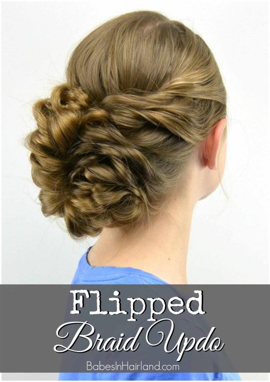 Flipped Braid UpdoJ