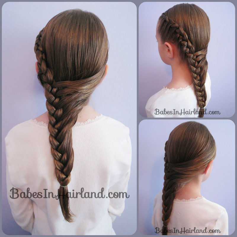 Half French Braid Hairstyle - Babes In Hairland