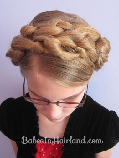 Chunky Knot Milkmaid Braids - BabesInHairland.com (17)