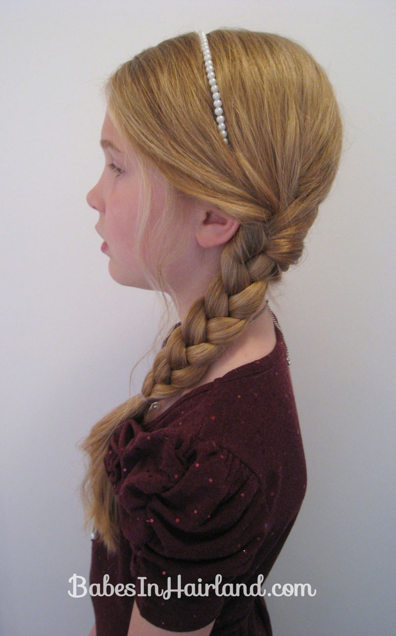 Slightly Messy Loose Side Braid 19