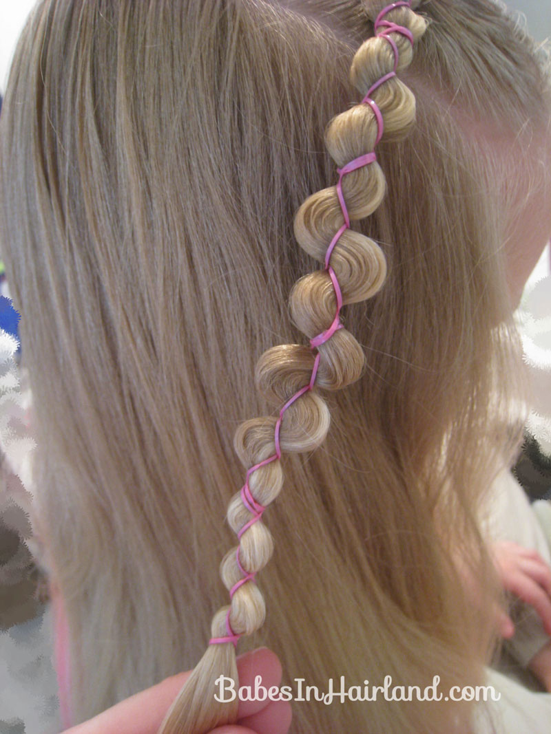 Rubber Band Wraps & Flipped Braids
