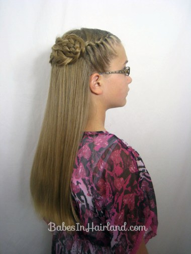 Half French Braid Wrap | BabesInHairland.com