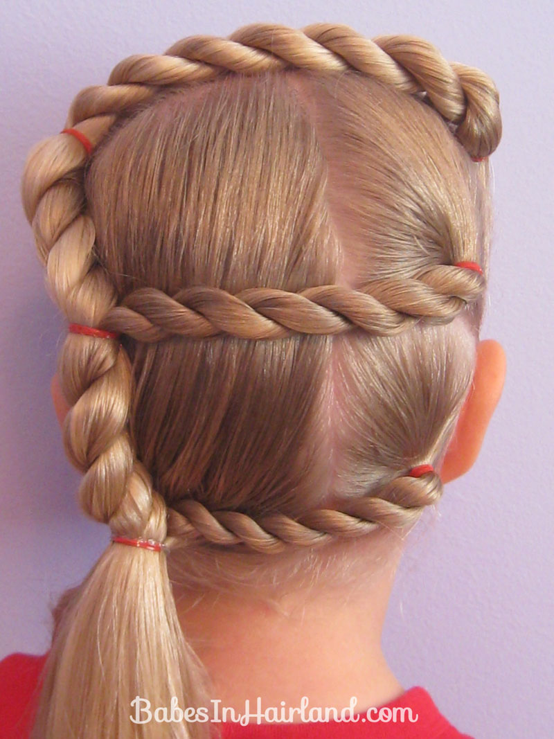 letter hairstyle - babes in hairland