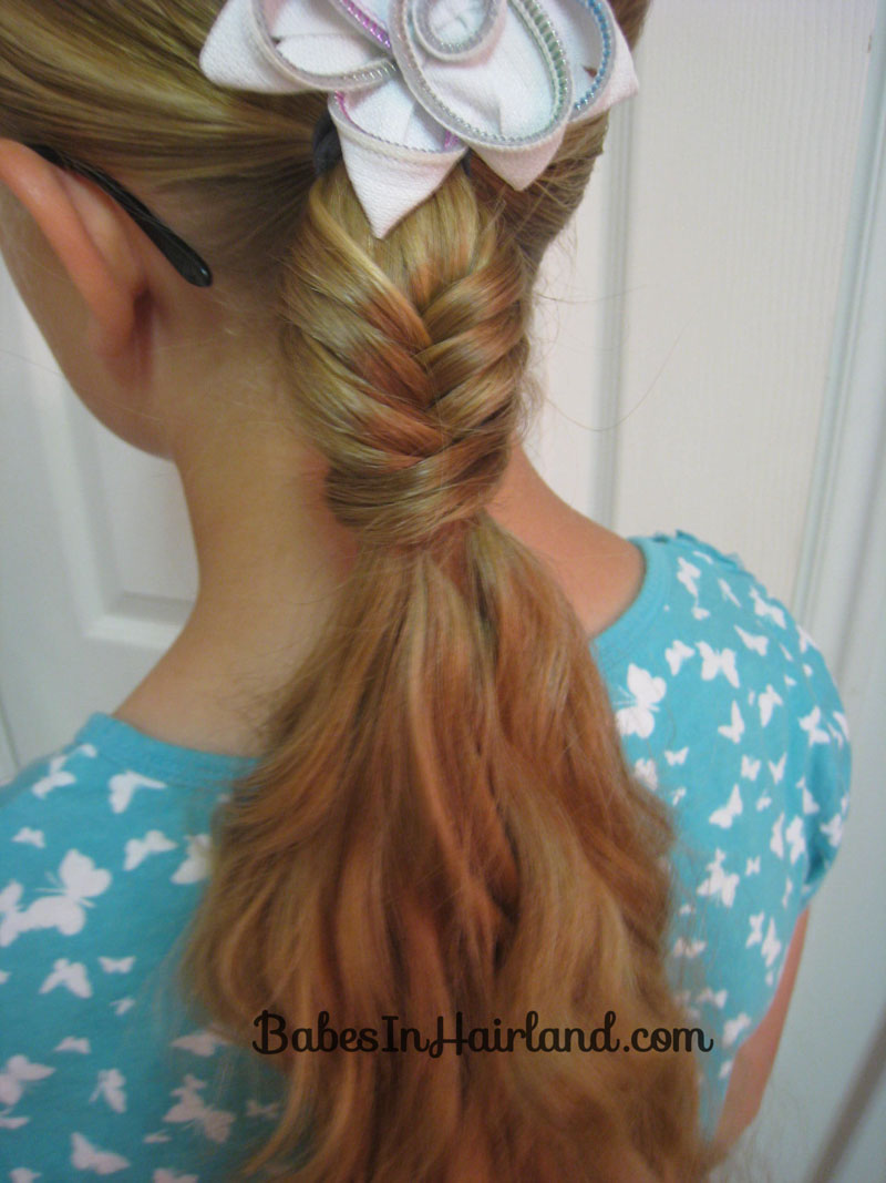 Fishbone Braided Ponytail & A Tip - Babes In Hairland