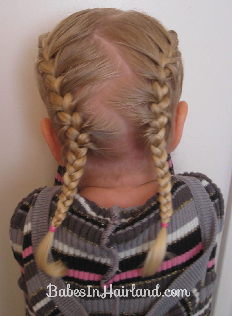 French braiding tips - Toddler French Braids 5