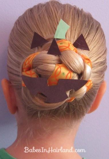 Halloween Hair - Jack O' Lantern Bun (9)