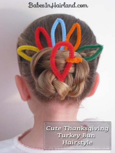 Cute Turkey Bun Hairstyle (1)