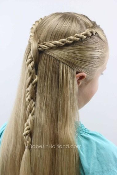 Rope Twist Hawser Braid Pullback from BabesInHairland.com #hair #hairstyle #ropetwists #hawsertwist