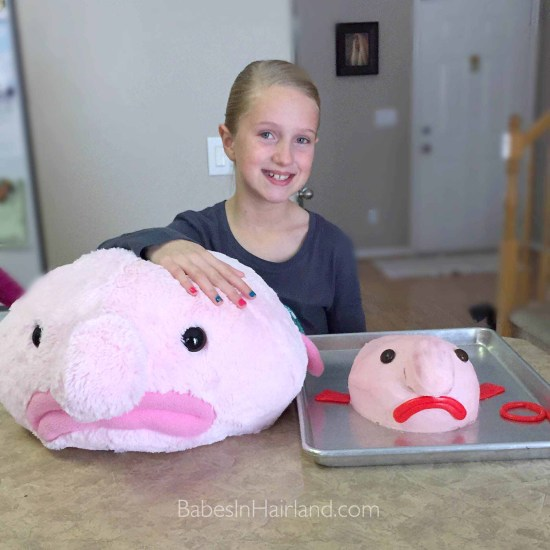 Blobfish Birthday Cake & Stuffed Animal | BabesInHairland.com #blobfish #blob #birthdaycake #happybirthday