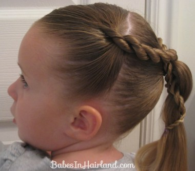 Rope Braid Wrapped Ponytail (3)