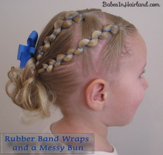 Rubber Band Wraps and Messy Bun (1)