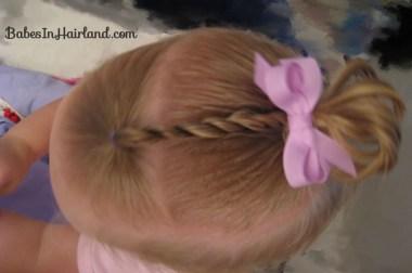 Baby Rope/Twist Braid into Baby Pony (1)