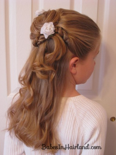 Twisted Flower Girl Hairstyle (1)