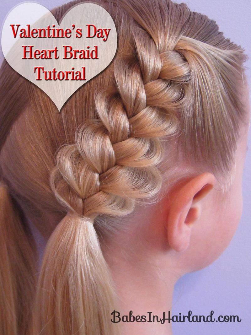 Heart Braids   Valentineu0027s Day Hairstyle ...