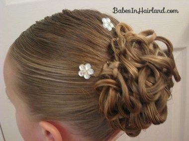 Knotted Pony Updo w/Hair Coils (8)